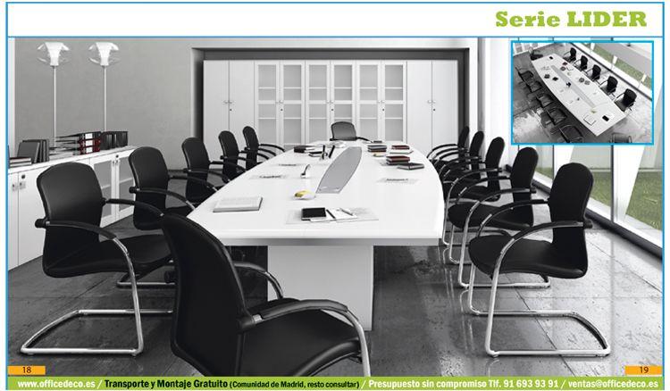Muebles de oficina para direcci n directivos serie lider for Oficina de infiltrados serie