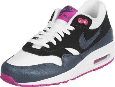 nike air max 1 w chaussures noir rose bleu