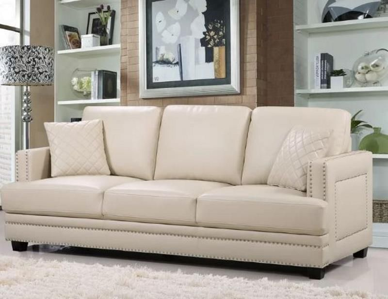 Swell 8 Cream Faux Leather Sofa Options That Make The Room Faux Customarchery Wood Chair Design Ideas Customarcherynet