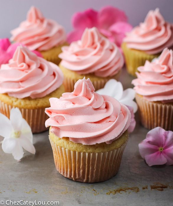 Yellow Cupcakes With Classic Buttercream Frosting