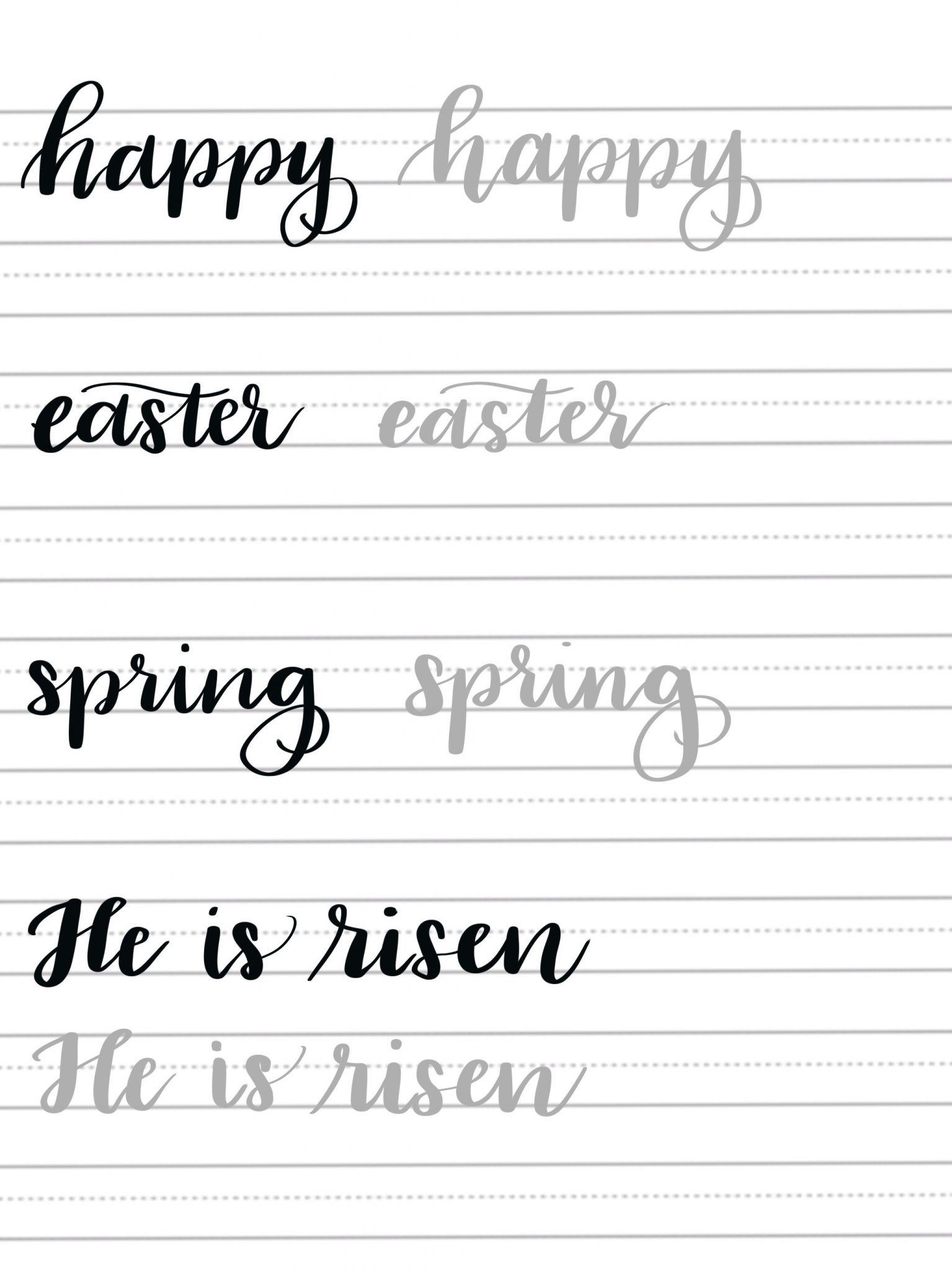 Spring Hand Lettering Practice Page   Hand Lettering   Pinterest ...