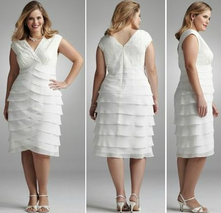 Plus size mature bride wedding dresses