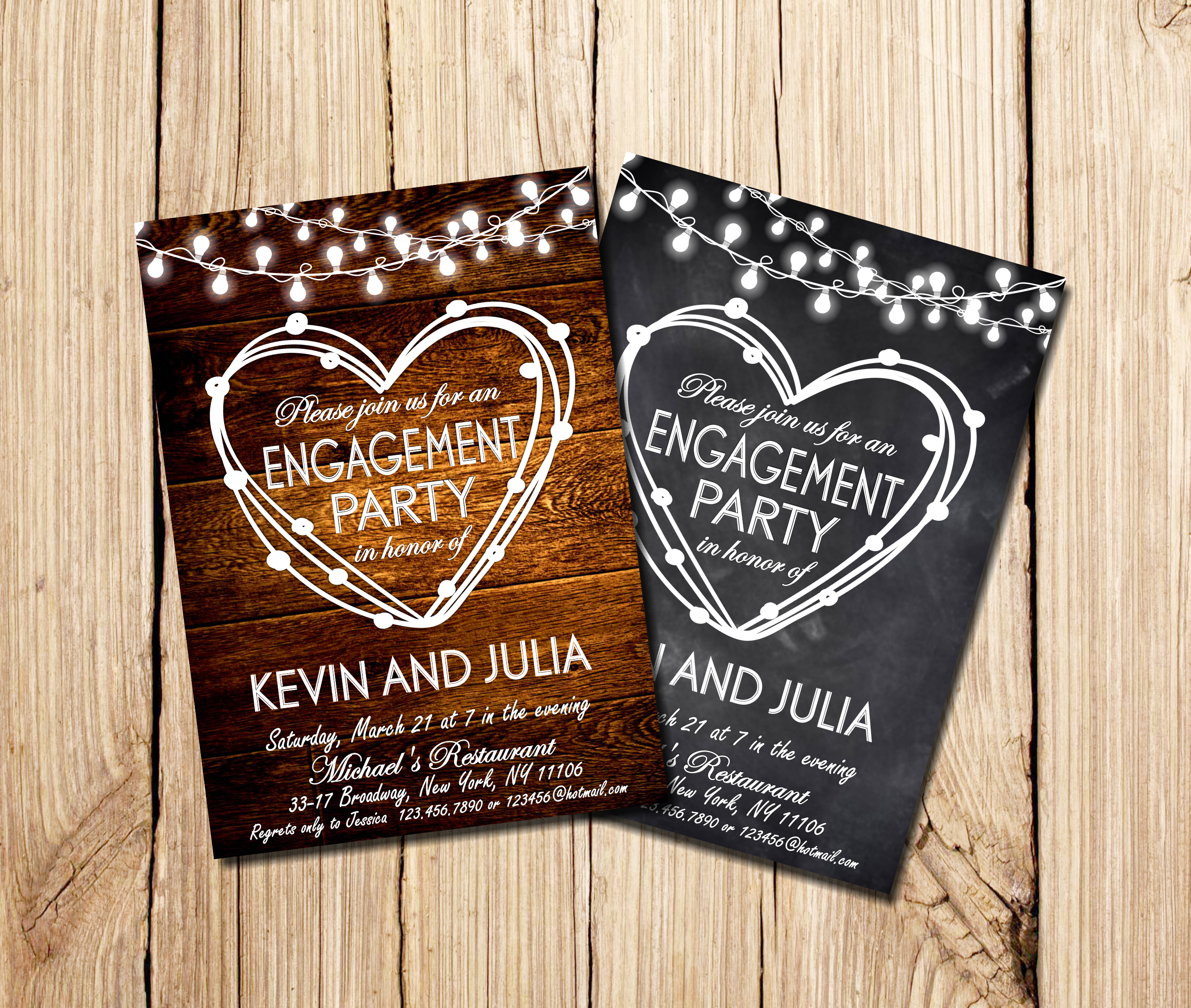 Rustic Engagement Invitation, Engagement Party Invitation, Engagement Party