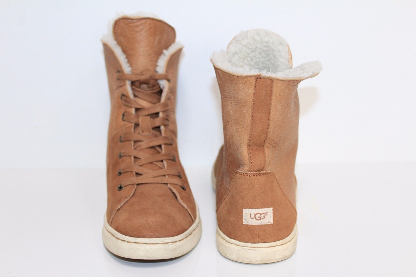 5b376de412c UGG Women Suede Leather High Top Sneaker Boots. NONE are made in ...