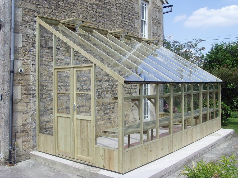 Heron 8x20 lean to greenhouse g a r d e n pinterest for Lean to house plans