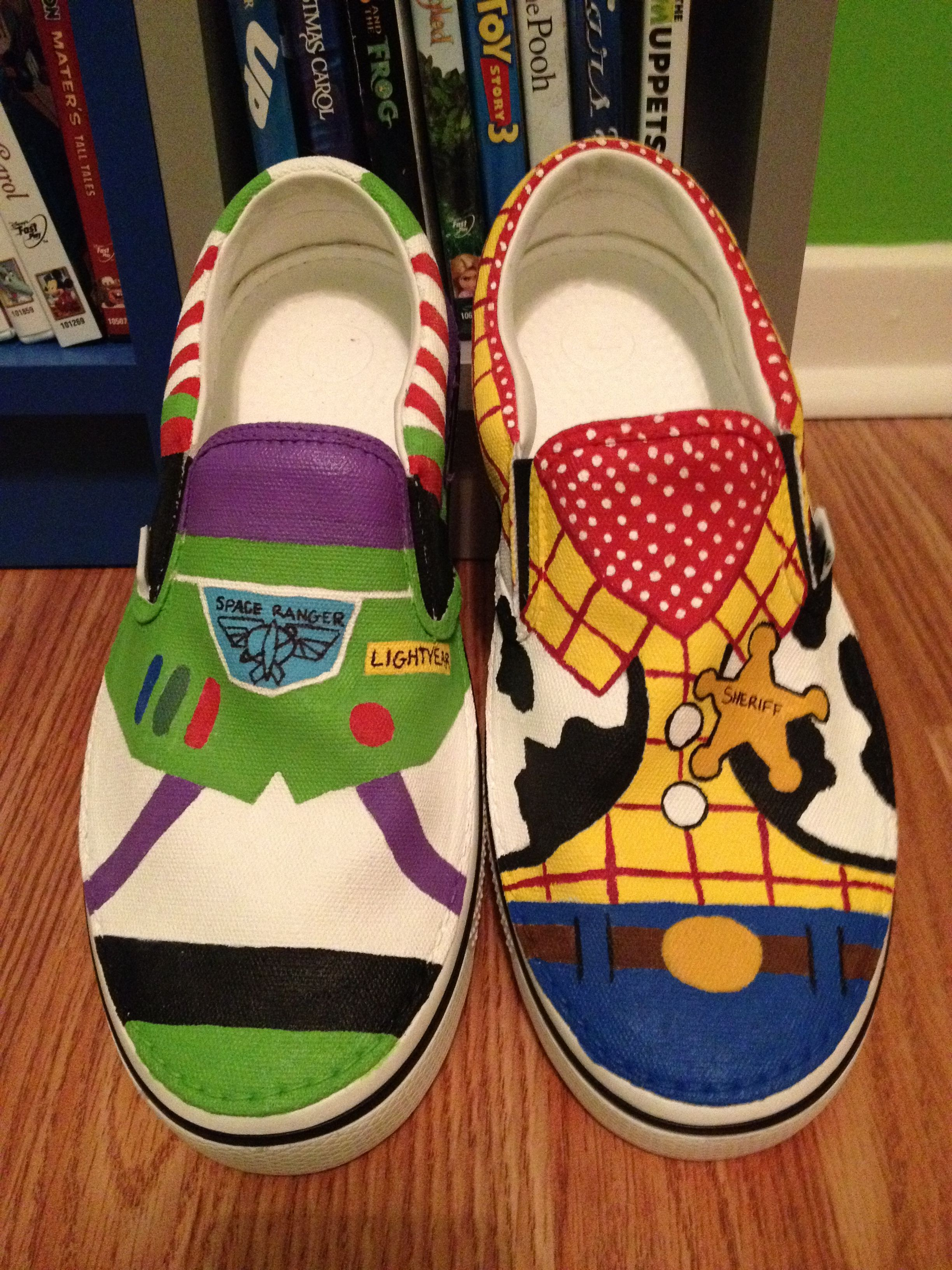 Canvas Shoes + Acrylic Paint + Matte Finish = To Infinity