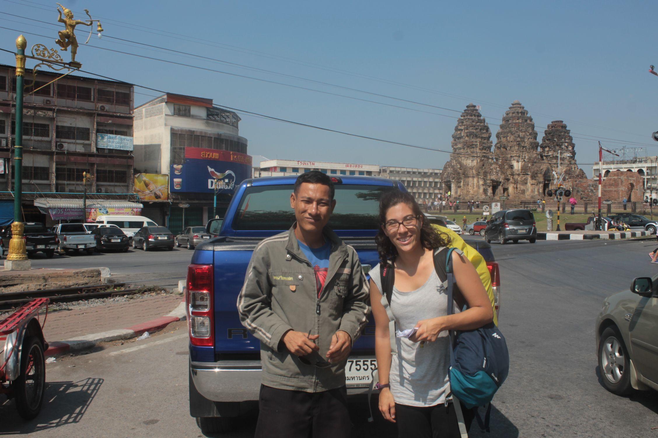 El conductor que nos acercó a Lopburi