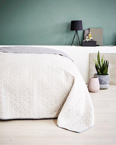 Sprei ROSENTRE 220x240 grijs/beige - Grijs, Slaapkamer en Interieur