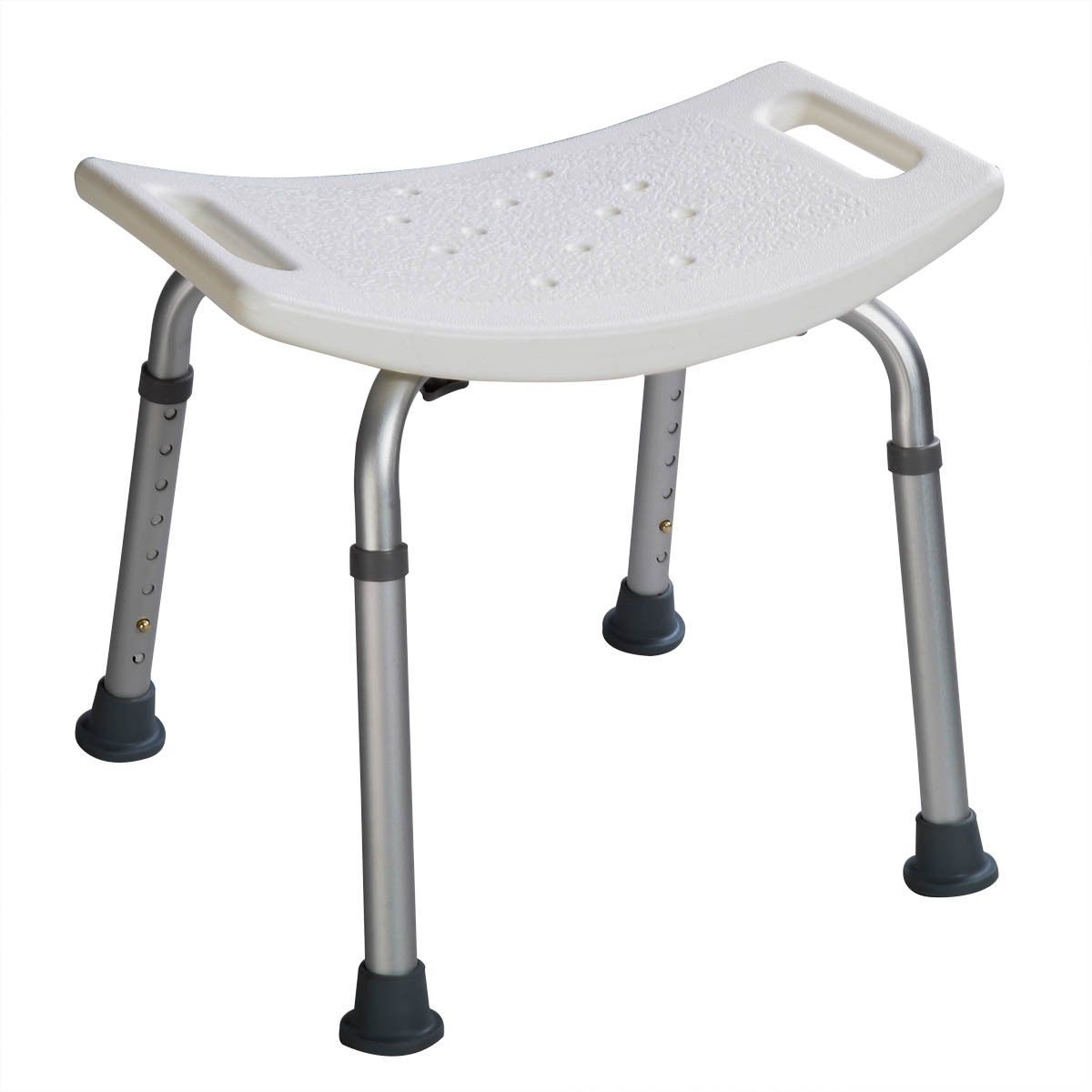 8 Height Adjustable Shower Chair Medical Bath Bench Bathtub Stool Seat  White New