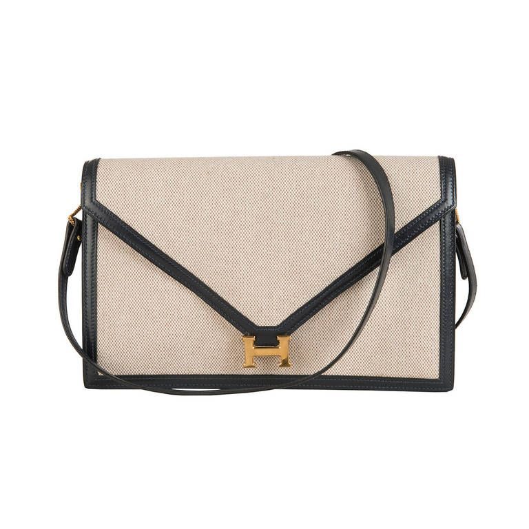 hot sales free shipping shop for official Hermes 'Sac Lydia' A Classic, Vintage Envelope Bag with the ...