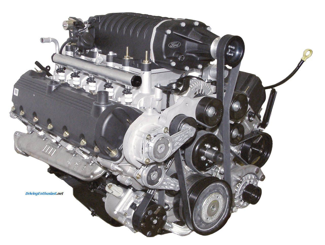 Ford 6 8 Sohc V 10 Production Version Designed For Hydrogen Fuel This Engine Is Found In Several Industrial Uses Inclu Engineering Combustion Engine Car Ford
