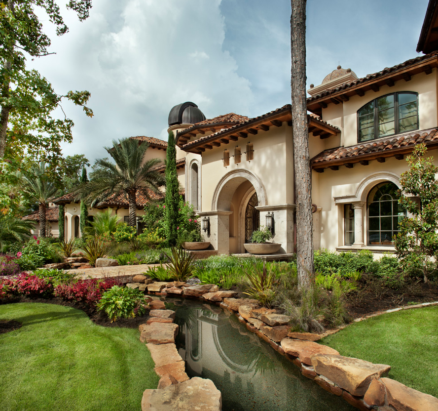 Mediterranean Tuscan Style Home House Tuscan House