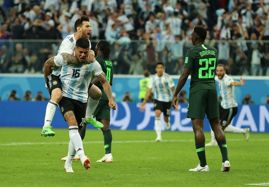 Argentina Stumbles Into Round Of 16 After Tense Win Over