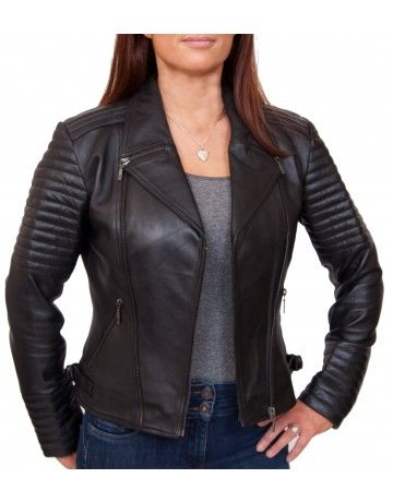 Buy Womens Leather Biker jacket online at LeatherNXG | Womens ...