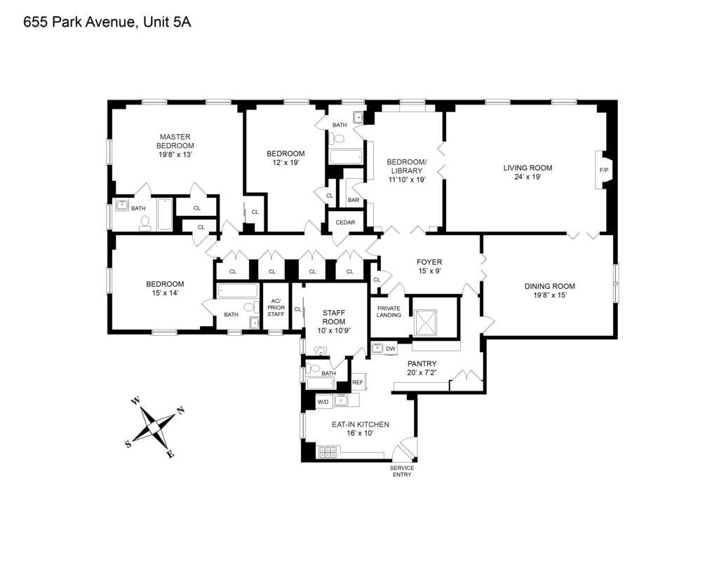 Streeteasy 655 Park Avenue In Lenox Hill 5a Sales Rentals Floorplans Streeteasy In 2020 Floor Plans