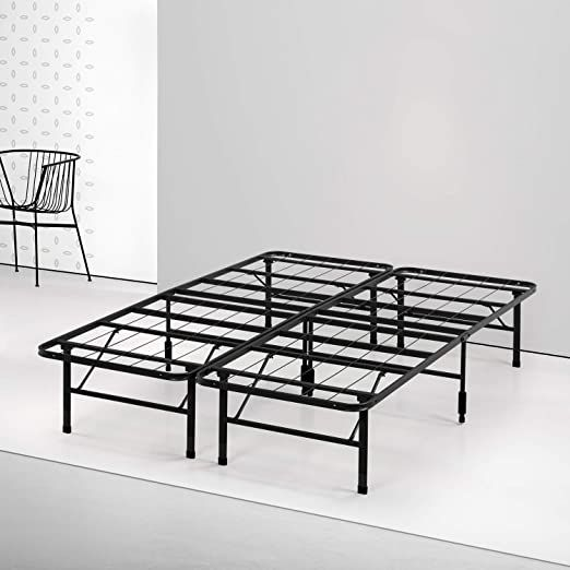 Spa Sensations Steel Smart Base Bed Frame, Black (Queen Frame)