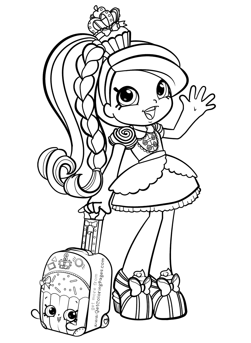 free girl coloring pages to print | Shoppies Coloring Pages | Shopkins colouring pages ...