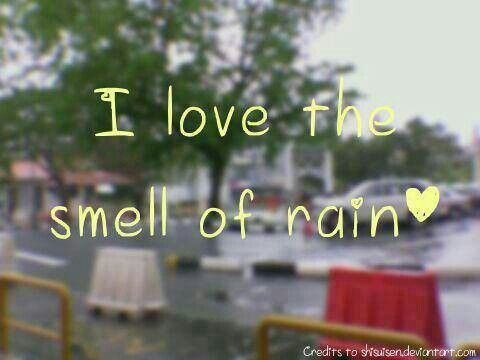 The smell of rain ♥