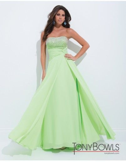 Tony Bowls 114535 Strapless Prom Dress :: Margene's Bridal - wish i would've needed the occasion to wear something like this..