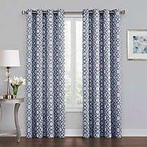 Bradford 84-Inch Grommet Window Curtain Panel in Grey in ...