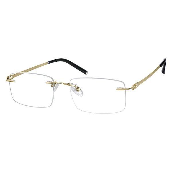e7450c121f27 Zenni Rimless Prescription  eyeglasses Gold Titanium 138914 ...