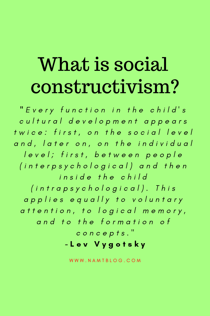 Social Constructivism Is A Learning Theory That Was Developed By Psychologist Lev Vygotsky Social Constructivism Learning Theory Social Learning Theory