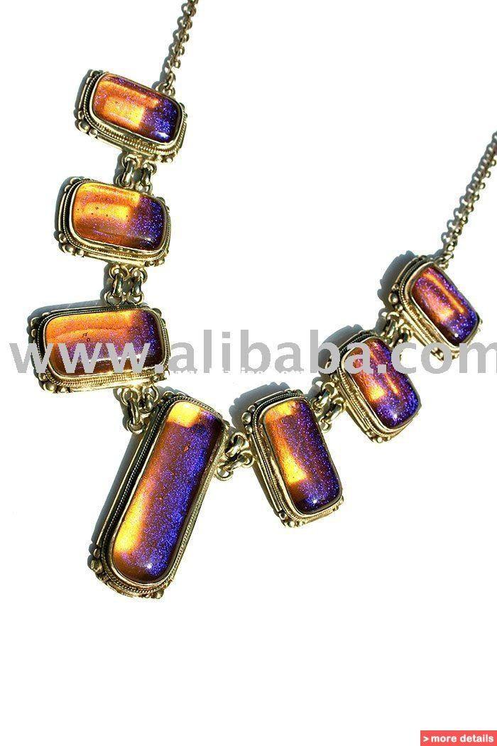 Handmade Fused Dichroic glass jewellery