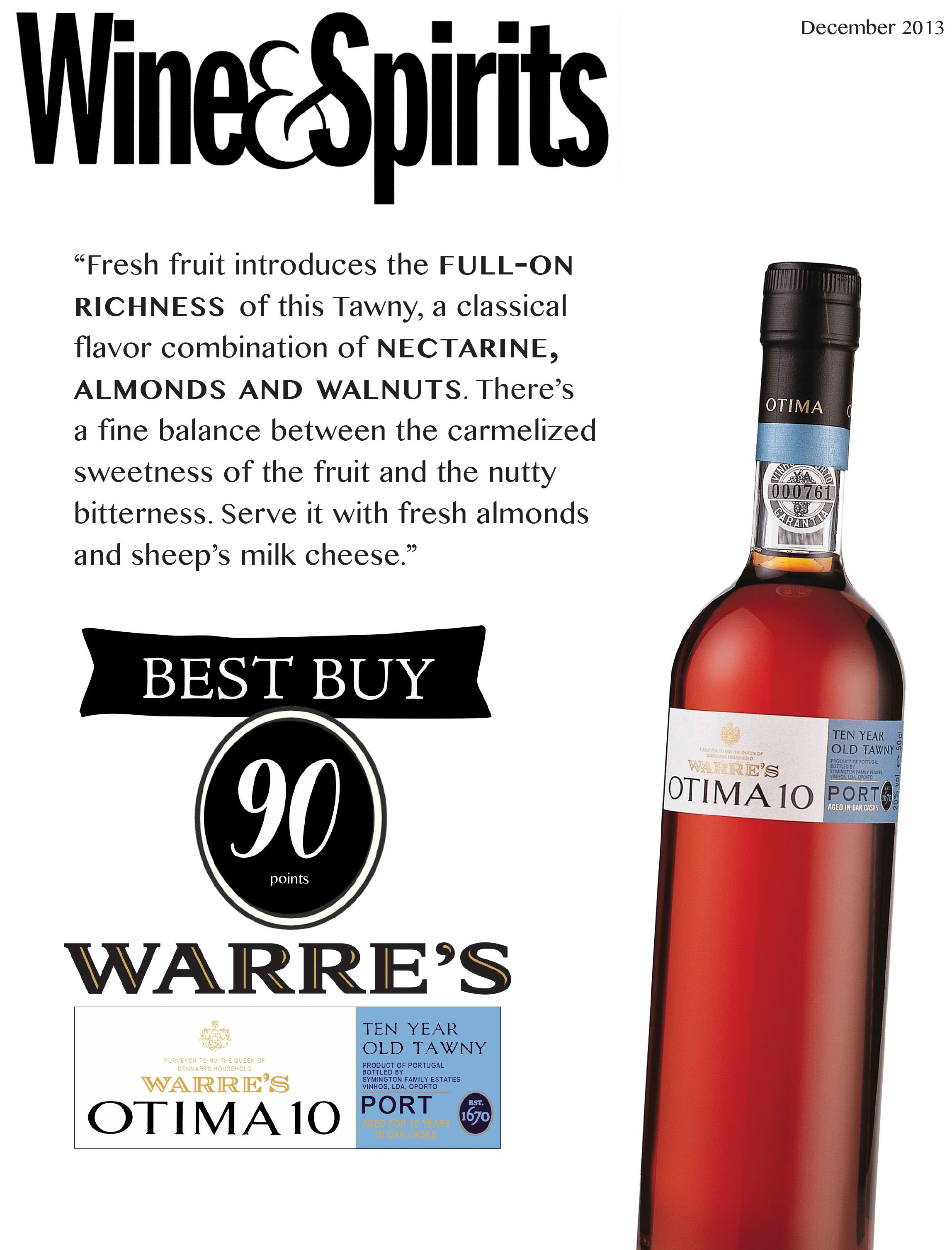 Warre S Otima 10 Year Old Tawny Port Best Buy 90 Points Wine Spitis Cool Things To Buy Fresh Fruit Wines