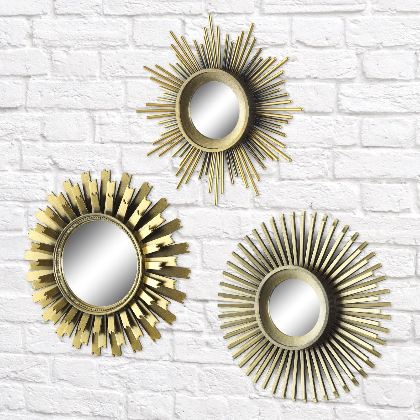 A set of sunburst mirrors to warm your icy heart and empty ...