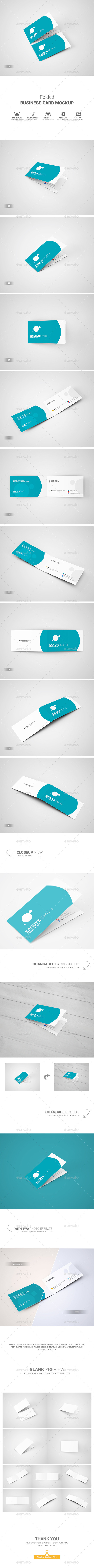 Folded Business Card Mockup #design Download: http://graphicriver ...