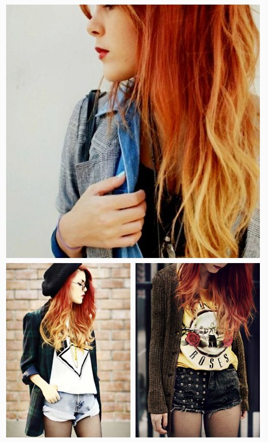 Red To Blonde Ombre Hair Ombre Hair Color Combinations Ombre