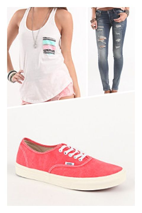 Tank top for a summer day, paired with #bullheadblack blue jeans and these #pacsun shoes