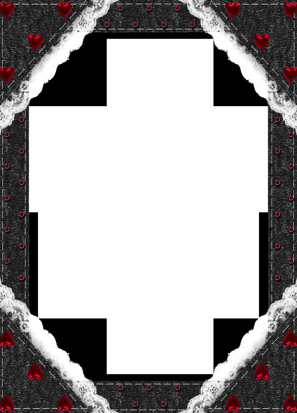 Black transparent frame with red hearts frames pinterest for Frame per foto