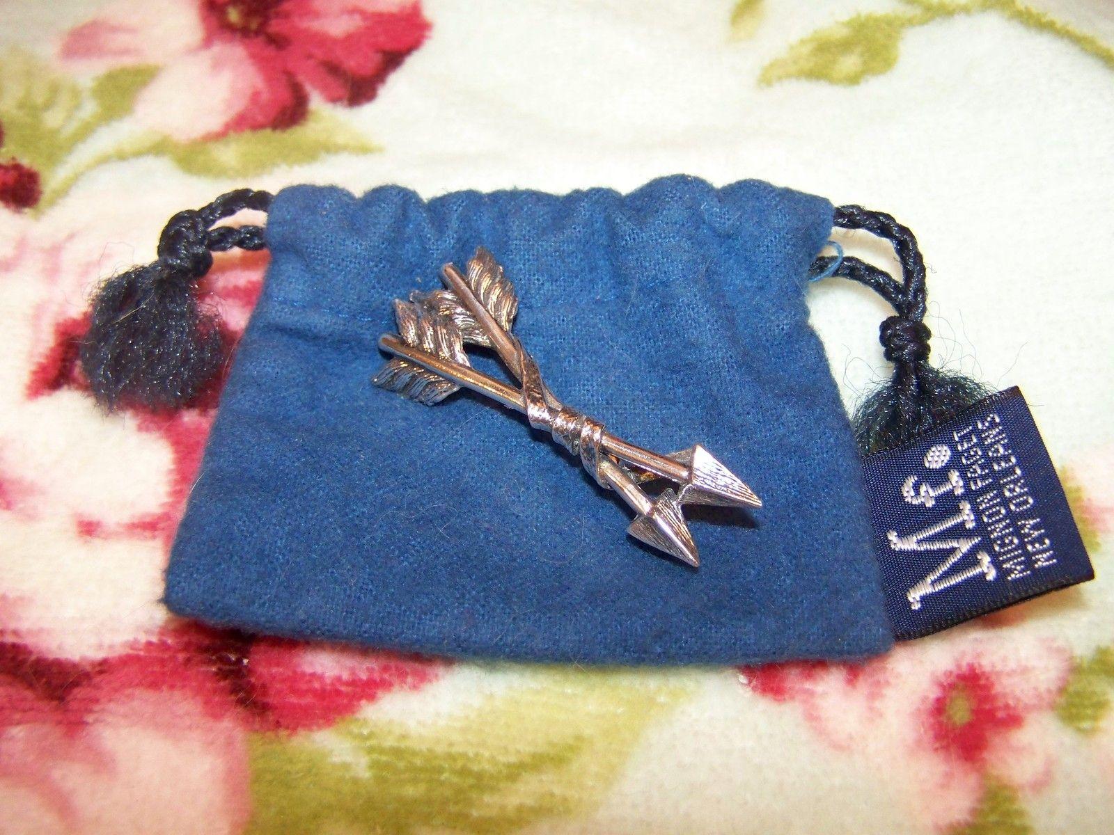 Mignon Faget MF Sterling Silver Cupid's Arrow Double Arrows Pin New Orleans NOLA -