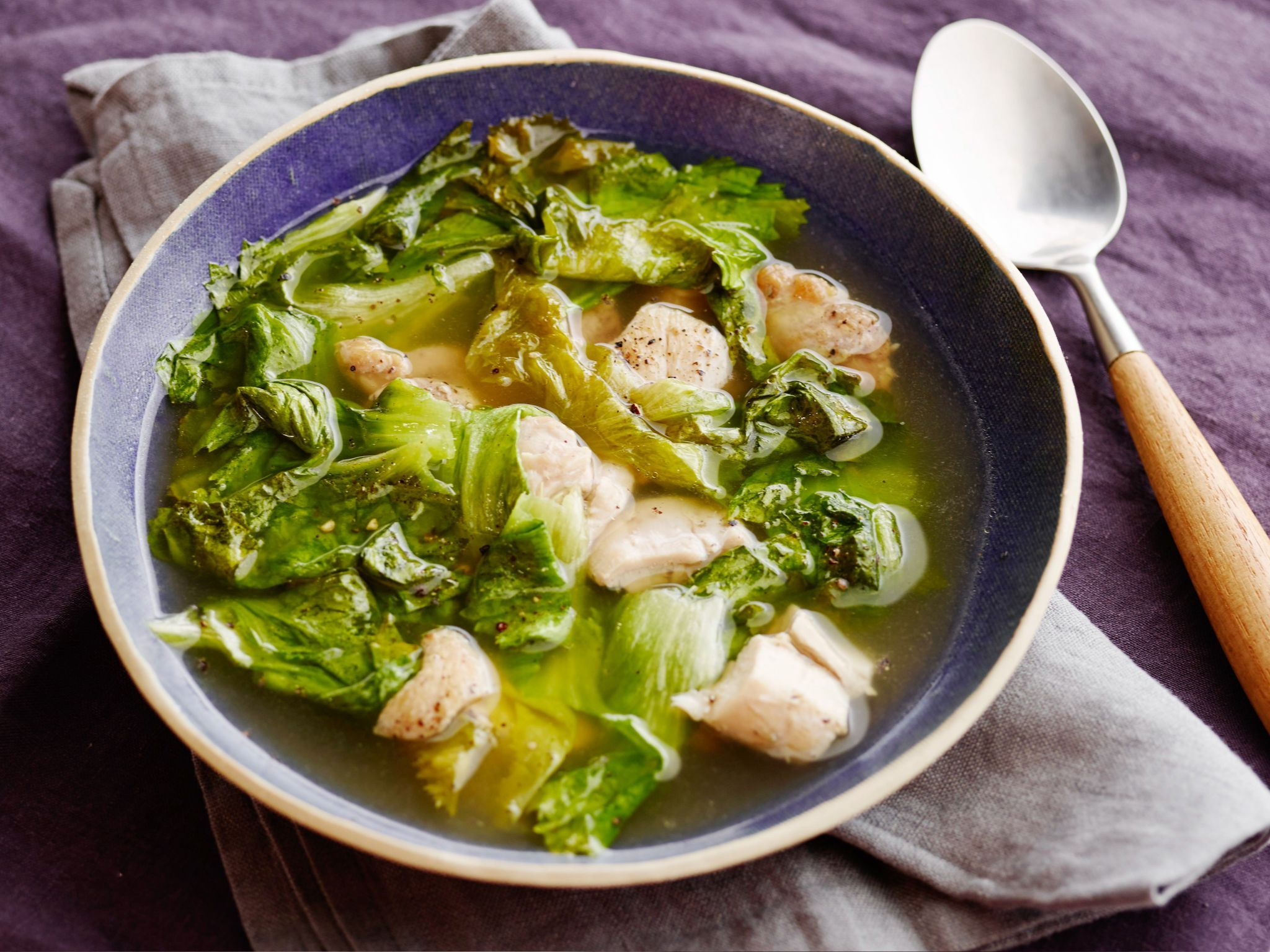 Easy chicken escarole soup recipe bowl food pinterest easy chicken escarole soup recipe from food network kitchen via food network note to self add vermicelli forumfinder Images
