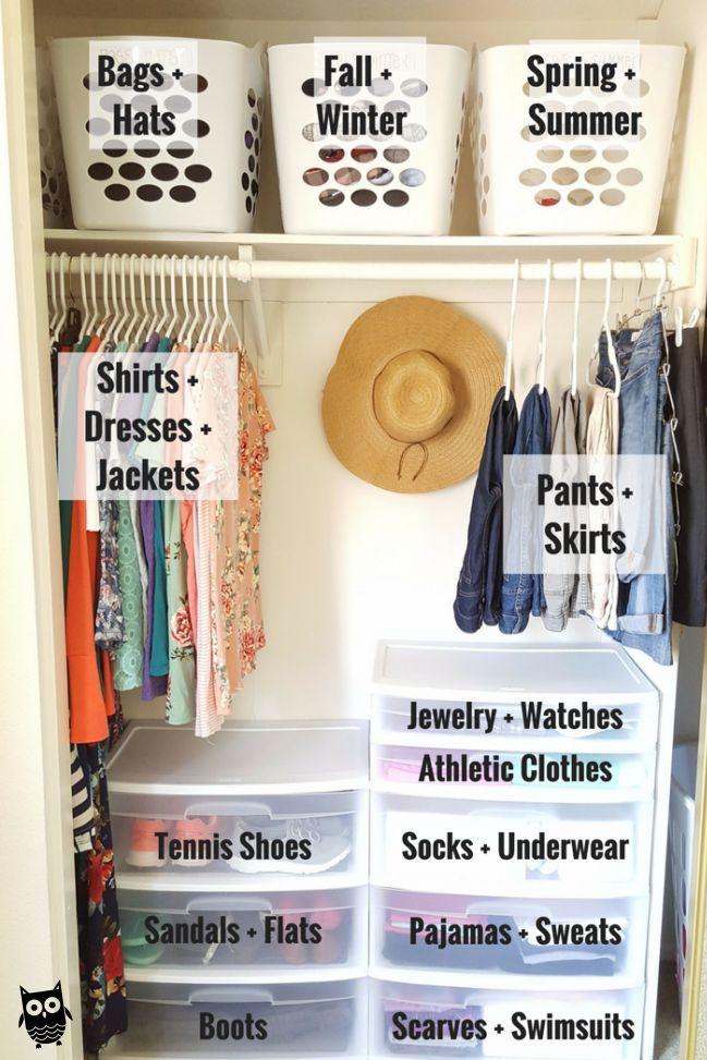 Photo of Organize a Small Closet on a Budget in 5 Simple Steps #closetorganization