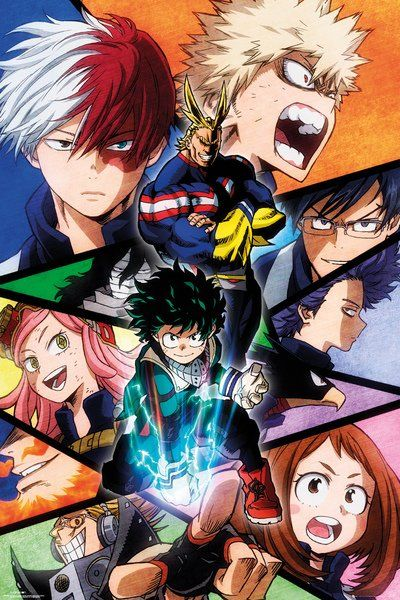 My Hero Academia - Manga / Anime TV Show Poster / Print (Character Montage)