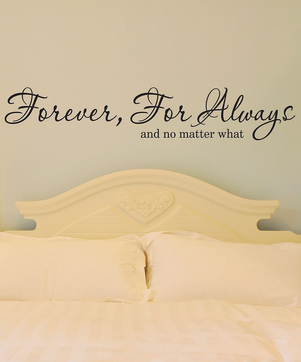 Black \'Forever For Always\' Wall Quote | Daily deals for moms ...