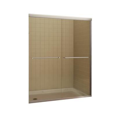 Keystone by MAAX Tonik 2-Panel Frameless Shower Door 59 1/2 Inches ...