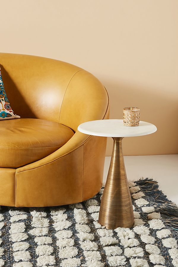Vivien Metal Side Table by Anthropologie in Gold Size: All ...