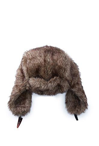 Brown Faux Fur Trapper Hat  18f0b53d5c40