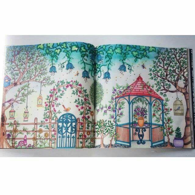 Jardim Secreto Gazebo Johanna Basford Secret BookAdult ColoringColoring