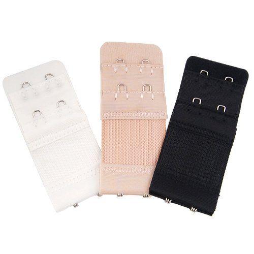 3 Colours Bra Extender 2//3Hooks Ladies Bra Extension Strap Underwear Strapless