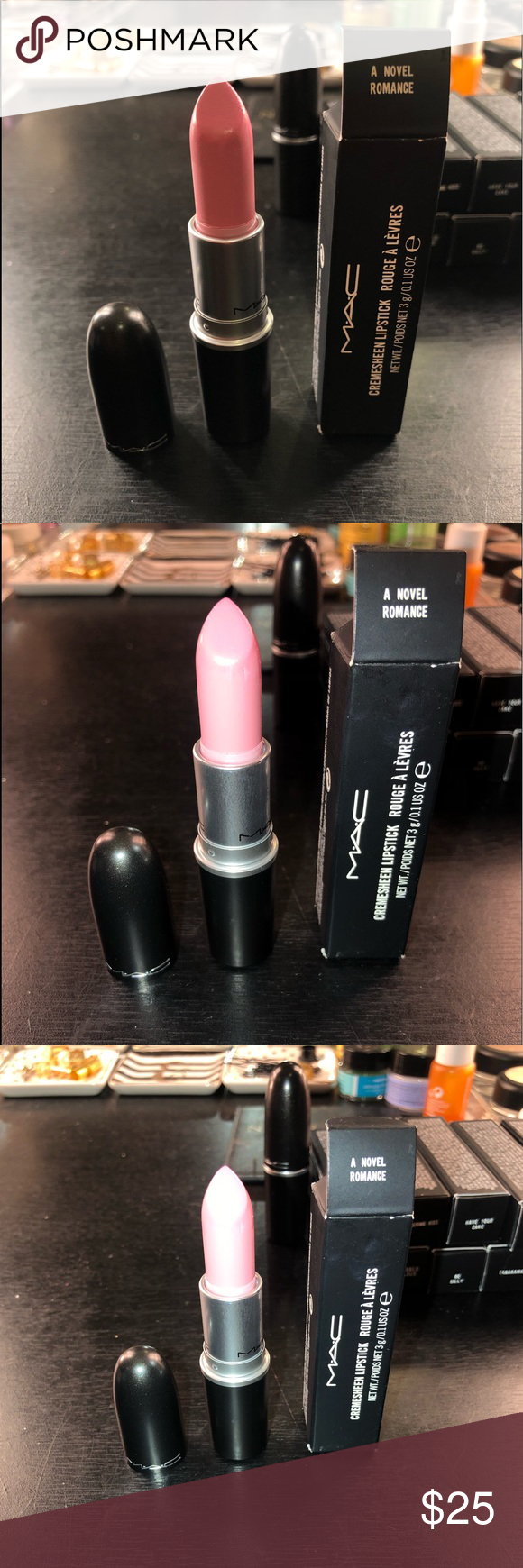 Mac Cosmetics Lipstick A Novel Romance LE Mac Cosmetics Lipstick  A Novel Romance      Mac Cosmetics Lipstick  A Novel Romance  Limited Edition.   Lipstick has been swatched   Its not sold in stores anymore Authentic Has vanilla smell MAC Cosmetics Makeup Lipstick #romanceornot?