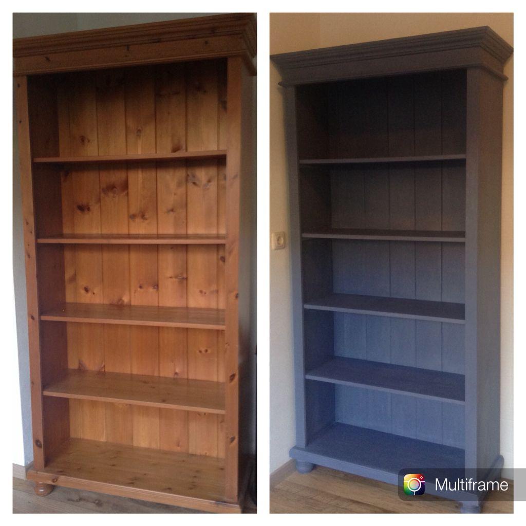 Oude boekenkast geschilderd met Annie Sloan Chalkpaint. | Mijn ...