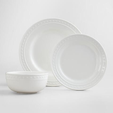 World Market-White Nantucket Dinnerware-bought service for 2 platters and 2 serving bowls *** & Pin by Luli Matos on h??? ????? ???? ? | Pinterest | Dinner plate ...