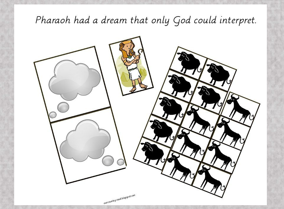 Bible Activity Book Pharaoh S Dream Free Printable Bible