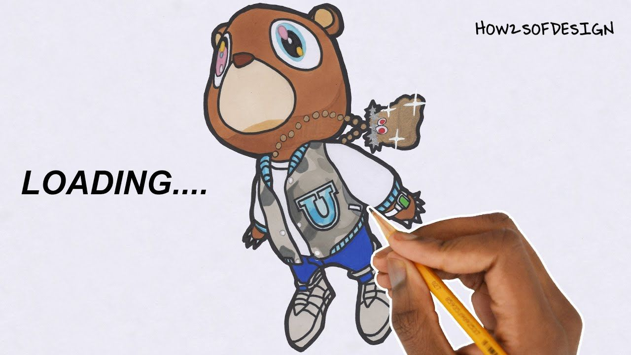 How To Draw The Kanye West Bear Graduation Album In 2020 Kanye West Bear Graduation Album Graphic Desi