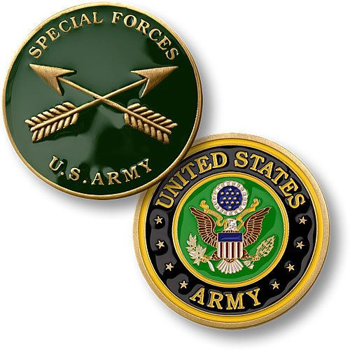 U s Army Special Forces Branch Insignia Seal Merlingold Challenge Coin | eBay