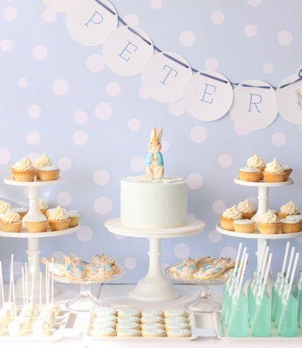 Ideas de decoracion para un bautizo en casa also conejo peter rh pinterest